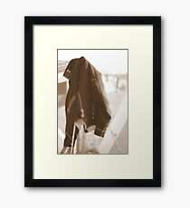 Will the Soldier Return? Framed Print
