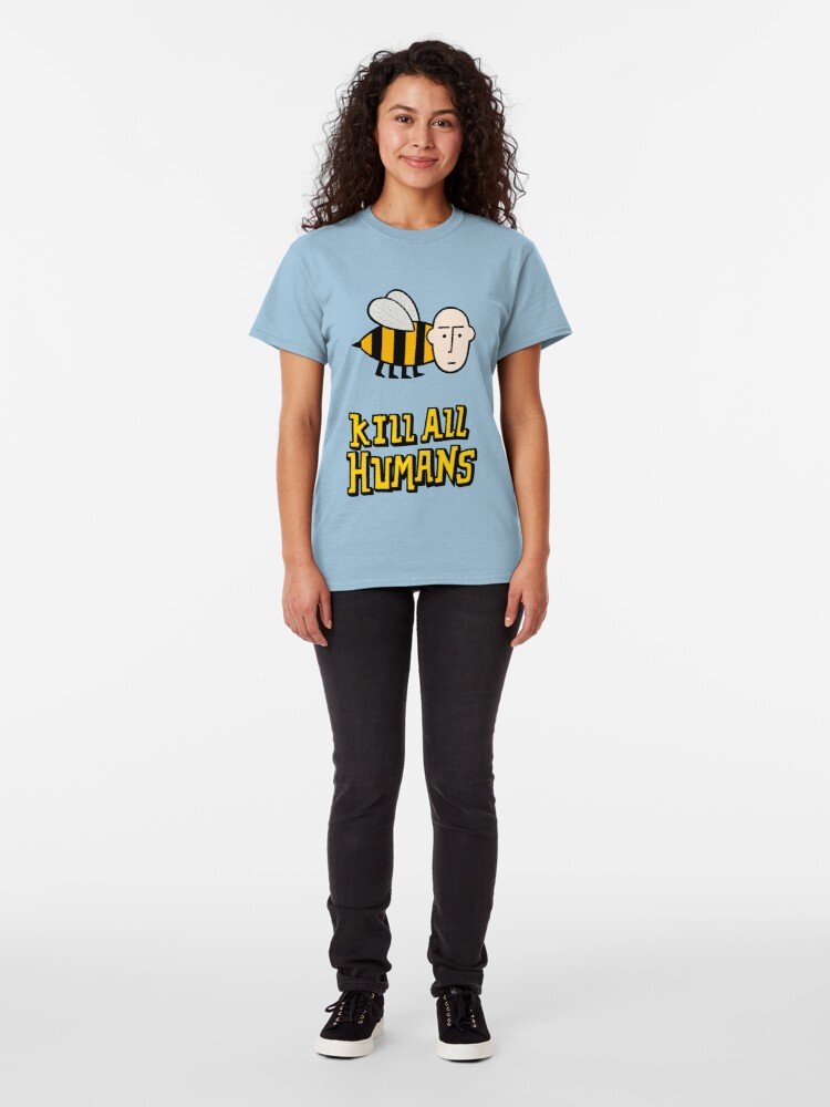 Alternate view of Save the bees. Classic T-Shirt
