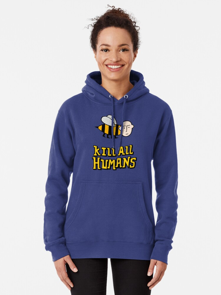 Alternate view of Save the bees. Pullover Hoodie