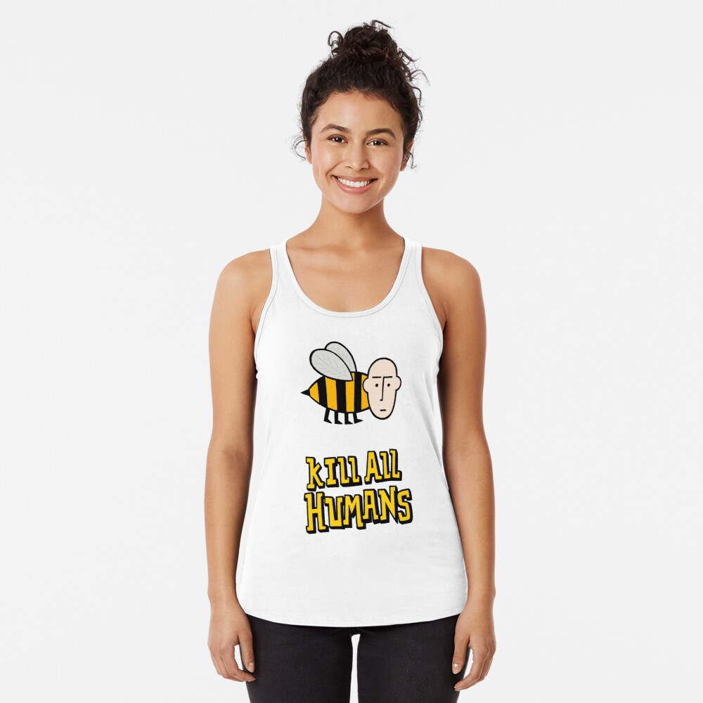 Save the bees. Racerback Tank Top