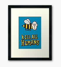Save the bees. Framed Print