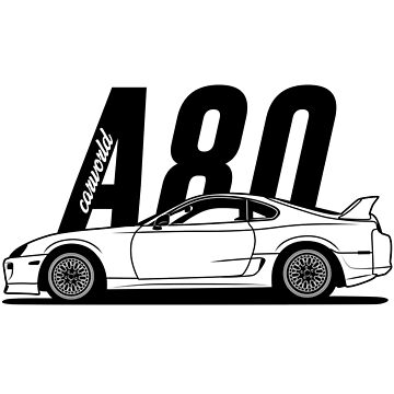 Toyota Supra A80 MK4 Side Best Shirt Design by CarWorld