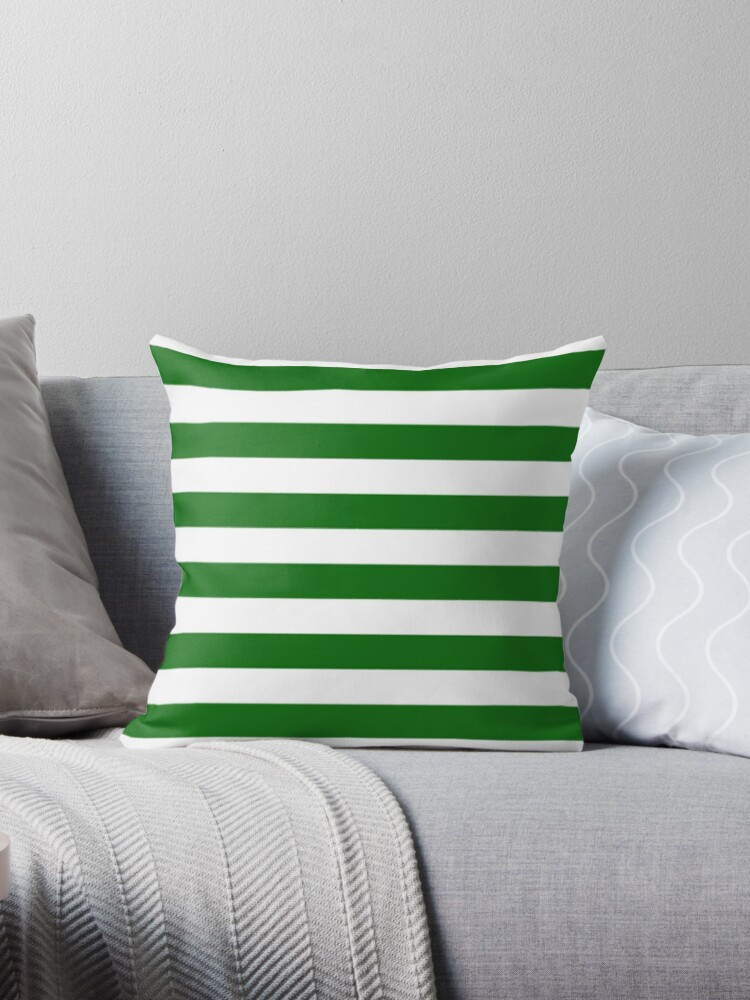 Green and White Hoops Banded Design by Sookiesooker