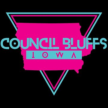 Council Bluffs Iowa Souvenirs IA Retro by fuller-factory