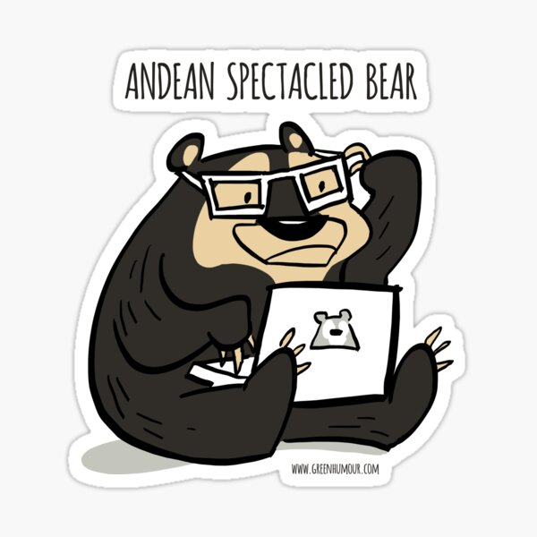 Andean Spectacled Bear Sticker