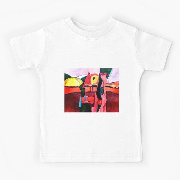 Africa - Orange Landscape Kids T-Shirt