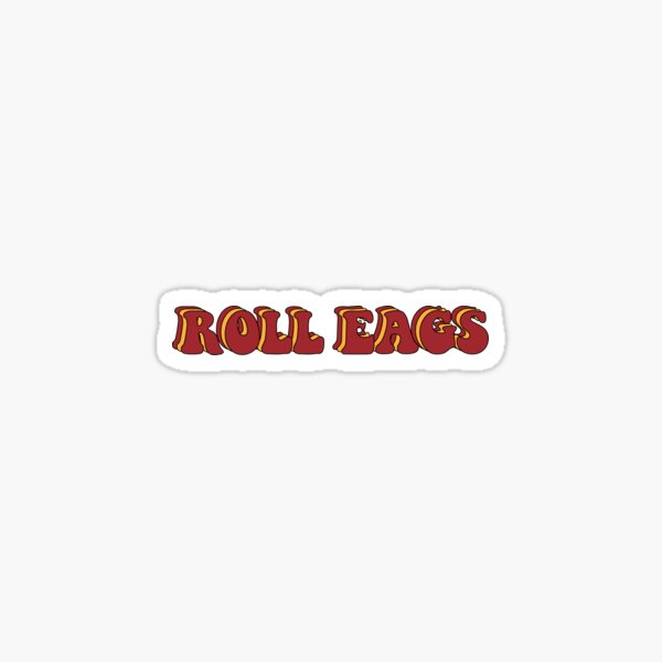 "Boston College ""Roll Eags"" Groovy Sticker"