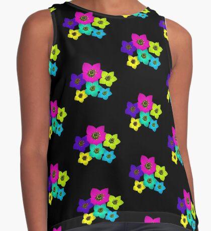 bunte Blumen, Blüten, farbenfroher Blumenstrauß, Blumenranke Kontrast Top