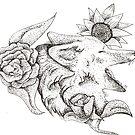 Fox and Flowers by makaylasophia