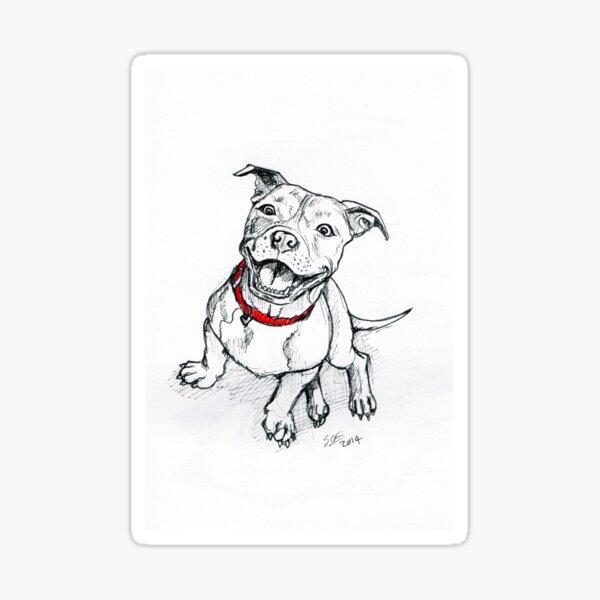 Happy Staffie Sticker