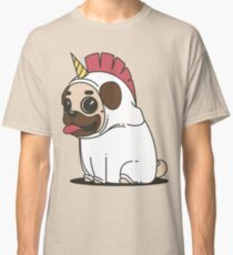 Pug in a Unicorn Costume | Shirts, pillows, Iphone Cases Classic T-Shirt