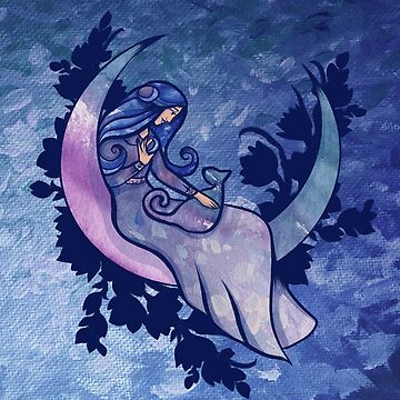 Moon Child Cat Goddess by Boogiemonst