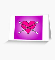 Heart Baton Twirling 2 Design  Greeting Card