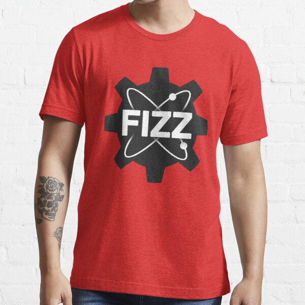 Black Gear Centered Logo Red Background Essential T-Shirt