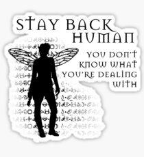 Stay Back Sticker