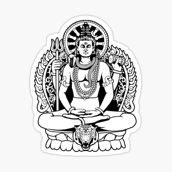 Hindu God Shiv Ji Sticker Photo