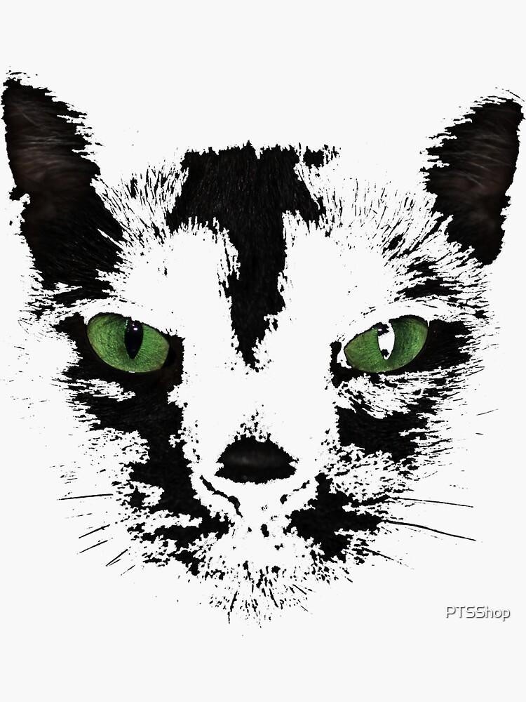 Black Cat Face  by PTSShop