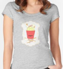 Fries Before Guys. Women's Fitted Scoop T-Shirt