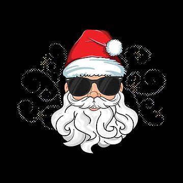 Cool Santa Merry Christmas T-Shirt Magic Jolly Xmas Family by 14thFloor