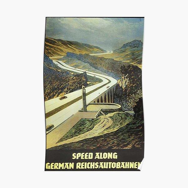 Reichsautobahnen, 1939 Tourist Ad Poster