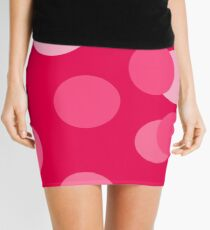 Stripes, Modern Home, Contemporary Art, Circles, Squares, Pink, Polka Dots, Simplicity Mini Skirt