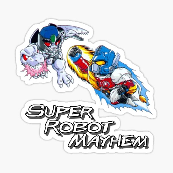 Japanese Beast Wars Optimus Prime vs Megatron Sticker
