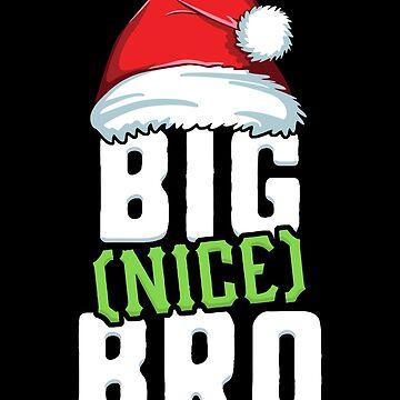 Nice Bro Family Christmas T-Shirt Brother Matching Santa by 14thFloor