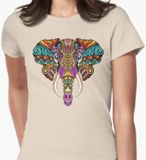 Mosaic Elephant: Rainbow Beast Womens Fitted T-Shirt