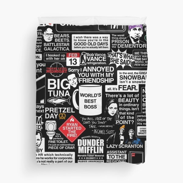 Wise Words From The Office - The Office Quotes Duvet Cover
