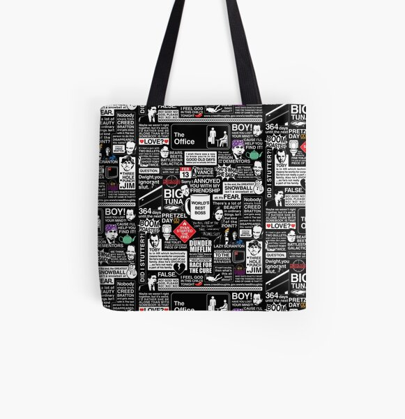 Wise Words From The Office - The Office Quotes All Over Print Tote Bag