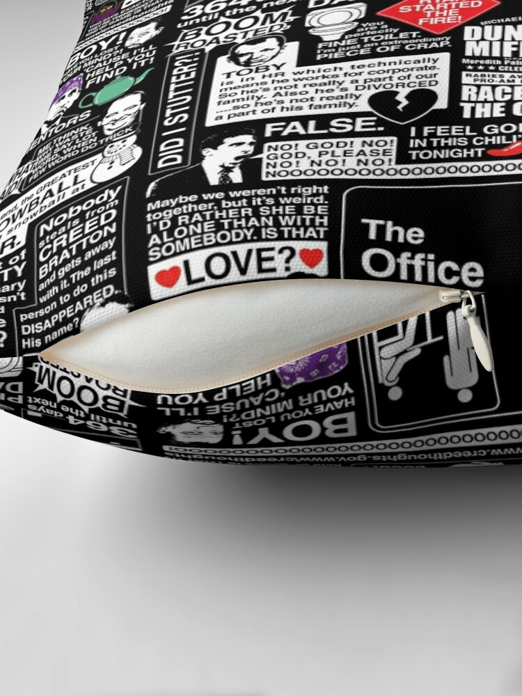 Alternate view of Wise Words From The Office - The Office Quotes Throw Pillow