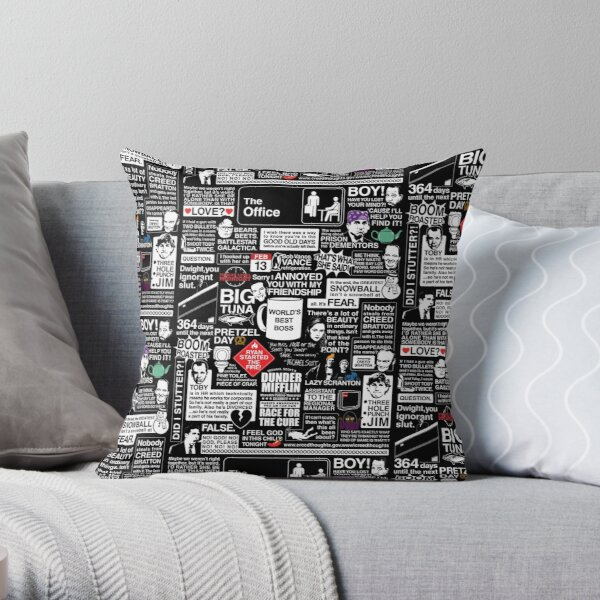 Wise Words From The Office - The Office Quotes Throw Pillow