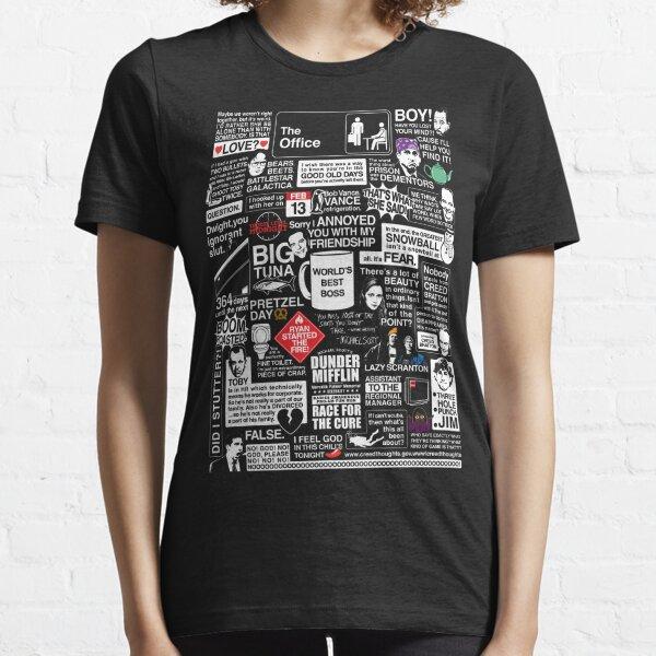 Mots sages du bureau - Citations du bureau T-shirt essentiel