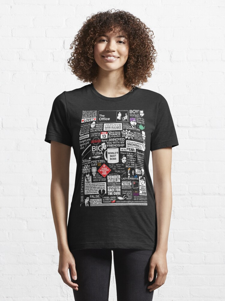 Alternate view of Wise Words From The Office - The Office Quotes Essential T-Shirt