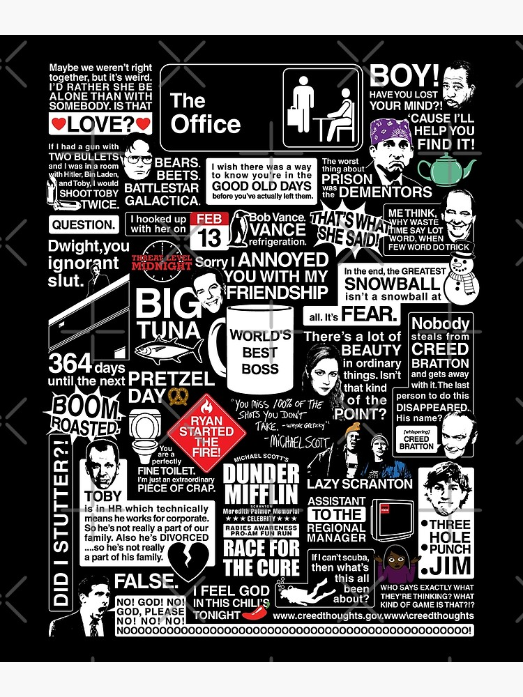 Wise Words From The Office - The Office Quotes by huckblade