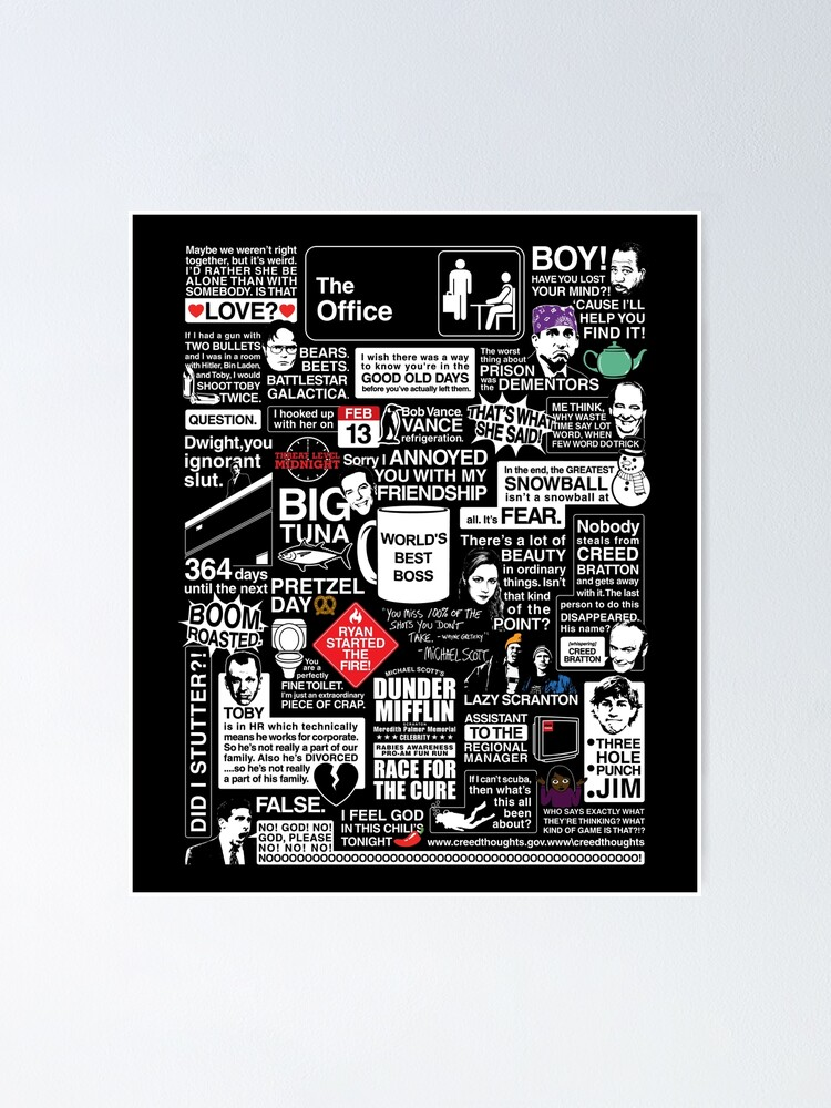 Alternate view of Wise Words From The Office - The Office Quotes Poster