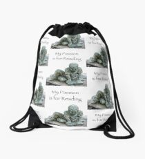 My Passion is for Reading Drawstring Bag