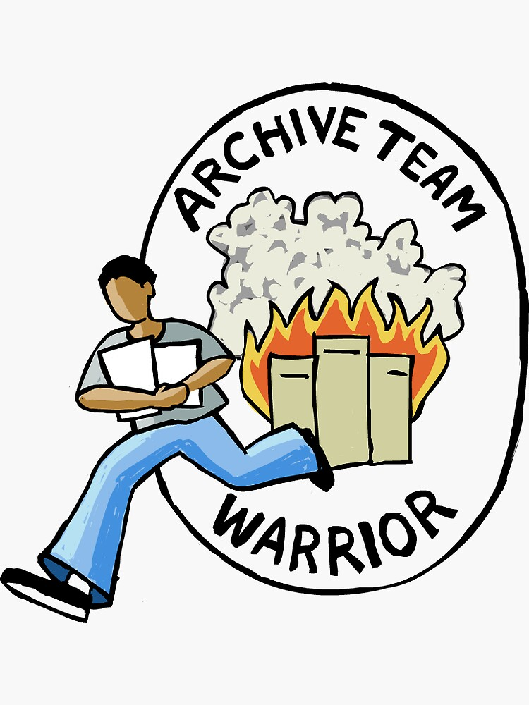 Archive Team Warrior Stickers by ajhajh