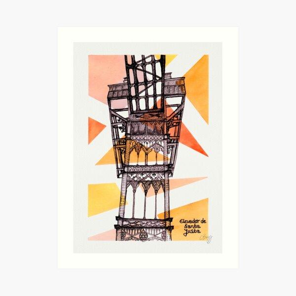 Elevador de Santa Justa - Lisbon Art Print