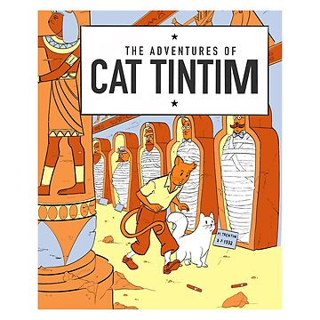 Comic belga gato tintim de tobiasfonseca