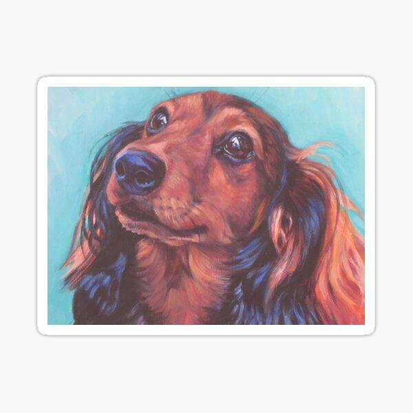 Dachshund Fine Art Painting Sticker