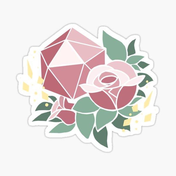 Pretty Poly-Rose Sticker