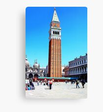 clock tower in venice Canvas Print