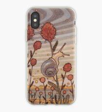 Escargot dans les fleurs Coque et skin iPhone