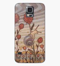 Escargot dans les fleurs Coque et skin Samsung Galaxy