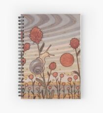 Snail in the Flowers Spiral Notebook