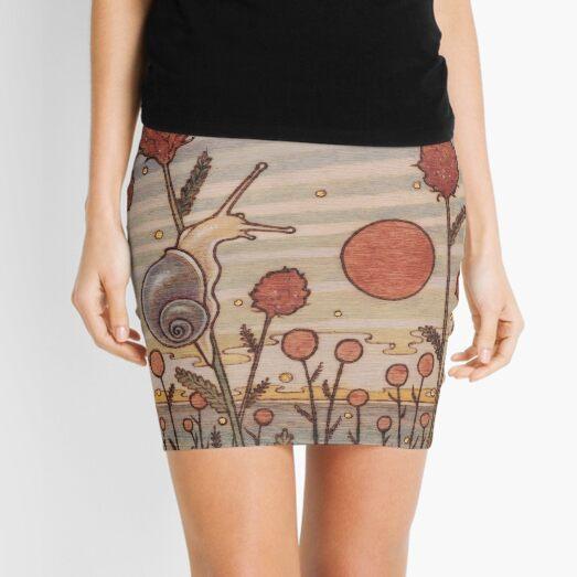 Snail in the Flowers Mini Skirt