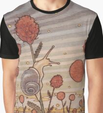 Snail in the Flowers Graphic T-Shirt