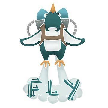 Jetpack Penguin by PixieCrop