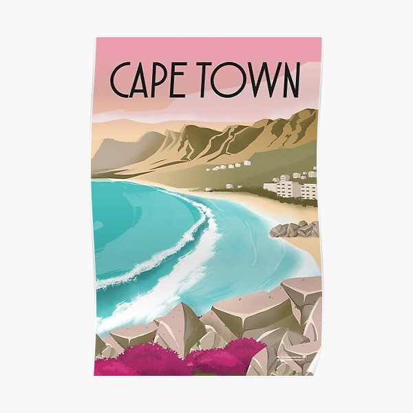 Cape Town  South AfricaTravel poster Poster